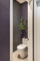 Fiorito Interior Design, interior design, remodel, master bathroom, modern, water closet, mineral wallpaper