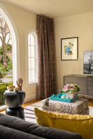 Fiorito Interior Design, interior design, remodel, transitional, sofa, ottoman, custom drapes, living room