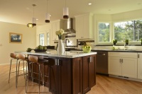 Fiorito Interior Design, interior design, remodel, kitchen, white cabinetry, island, transitional, granite counter
