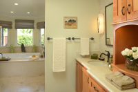 Fiorito Interior Design, interior design, remodel, master bathroom, custom vanity, mosaic tile, soaking tub, traditional