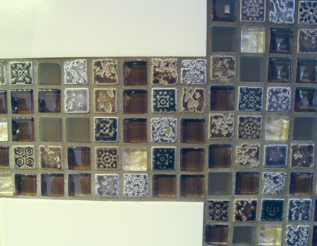 Fiorito Interior Design, interior design, remodel, kitchen, mosaic tile backsplash, transitional